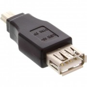 InLine Adattatore USB 2.0 Type-A femmina a Mini USB 2.0 Type-A maschio