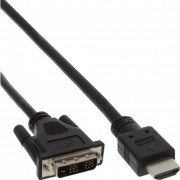 InLine Cavo HDMI maschio a DVI 18+1 maschio, 5m, nero