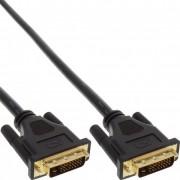 InLine Cavo DVI-D 24+1 maschio a DVI-D 24+1 maschio, pin dorati, Dual Link, nero, 15m - Premium Quality