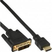 InLine Cavo HDMI maschio a DVI 18+1 maschio, 7,5m, contatti dorati, nero