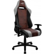 AEROCOOL BARON BURGUNDY RED AEROSUEDE PREMIUM GAMING CHAIR, LEATHERETTE, CARBON FIBER, ERGONOMIC CUSHIONS