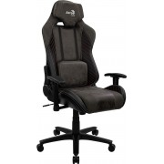 AEROCOOL BARON IRON BLACK AEROSUEDE PREMIUM GAMING CHAIR, LEATHERETTE, CARBON FIBER, ERGONOMIC CUSHIONS