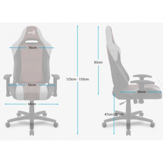 Aerocool Baron Nobility Series Aerosuede Premium Gaming Chair - Hunter Green