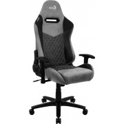 AEROCOOL DUKE ASH BLACK AEROSUEDE PREMIUM GAMING CHAIR, LEATHERETTE, CARBON FIBER, ERGONOMIC CUSHIONS
