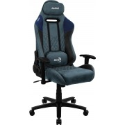 AEROCOOL DUKE STONE BLUE AEROSUEDE PREMIUM GAMING CHAIR, LEATHERETTE, CARBON FIBER, ERGONOMIC CUSHIONS