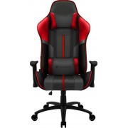 THUNDERX3 BC3 BOSS FIRE GREY RED PREMIUM STYLE GAMING CHAIR, X2 CUSHION, AIR-TECH