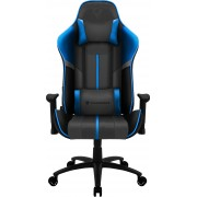 THUNDERX3 BC3 BOSS OCEAN GREY BLUE PREMIUM STYLE GAMING CHAIR, X2 CUSHION, AIR-TECH