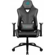 THUNDERX3 YC3 BLACK HI-TECH GAMING CHAIR, ULTRA COMFORT, AIR-TECH, LEATHERETTE & CARBON FIBER, ERGONOMIC CUSHIONS