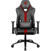 THUNDERX3 YC3 RED BLACK HI-TECH GAMING CHAIR, ULTRA COMFORT, AIR-TECH, LEATHERETTE & CARBON FIBER, ERGONOMIC CUSHIONS