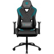THUNDERX3 DC3 CYAN BLACK HI-TECH GAMING CHAIR, ULTRA COMFORT, AIR-TECH, LEATHERETTE & CARBON FIBER, ERGONOMIC CUSHIONS