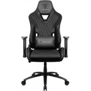 THUNDERX3 DC3 BLACK HI-TECH GAMING CHAIR, ULTRA COMFORT, AIR-TECH, LEATHERETTE & CARBON FIBER, ERGONOMIC CUSHIONS
