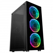 Mars Gaming MCG RGB Case Middle Tower ATX RGB Tempered Glass