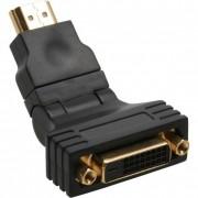 InLine Adattatore HDMI maschio a DVI-D 24+1 femmina, contatti dorati, orientabile 360°