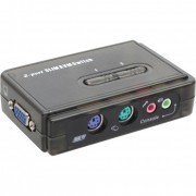 InLine KVM Switch, 2 porte, PS/2 VGA, Audio, Kit cavi inclusi