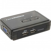 InLine KVM Switch, 2 porte, USB VGA, Kit cavi inclusi