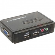 InLine KVM Switch, 2 porte, USB VGA, Audio, Kit cavi inclusi
