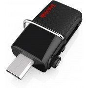 Sandisk Ultra Dual USB Drive 3.0, 32 GB, Velocità di lettura fino a 150 MB/s, Nero