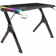 Mars Gaming MGD RGB Gaming Desk, Carbon fiber - Black