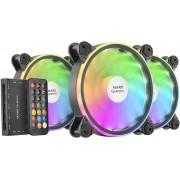 Mars Gaming MFXKIT - 3 Ventole MFX da 120mm Dual ARGB + HUB - Black