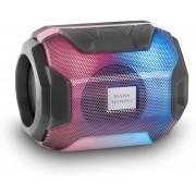 Mars Gaming MSBAXW, Altoparlante Bluetooth RGB, Compatto, 10W, USB/MicroSD/Radio, Bianco