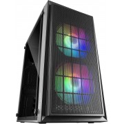 Mars Gaming MCDUO Case Middle Tower ATX, 2 Ventole FRGB - Black