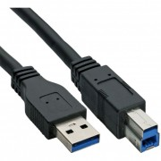InLine Cavo USB 3.0, Type A maschio a Type B maschio, nero, 3m
