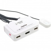 InLine KVM Switch, 2 porte, USB HDMI, Audio, all-in-one