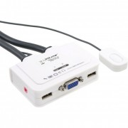 InLine KVM Switch, 2 porte, USB VGA, Audio, all-in-one