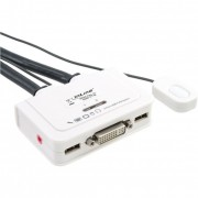 InLine KVM Switch, 2 porte, USB DVI, Audio, all-in-one