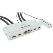 InLine KVM Switch, 4 porte, USB DVI, Audio, all-in-one