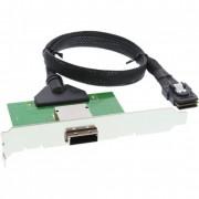 InLine Adattatore SAS su staffa PCI da 26-pin Mini SAS (SFF-8088) esterno a 36-pin Mini SAS (SFF-8087) interno su cavo da 0,5m