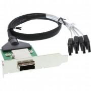 InLine Adattatore SAS su staffa PCI low profile da 26-pin Mini SAS (SFF-8088) esterno a 4x SATA interne su cavo da 0,5m