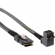InLine Cavo Mini SAS, SFF-8643 a SFF-8087 + Sideband, 1m, connettore 90°