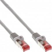 InLine Cavo Patch LAN, S/FTP (PiMf), Cat.6, 250MHz, guaina PVC, CCA (lega rame/alluminio), grigio, 2m