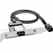 InLine Adattatore SAS HD su staffa PCI con foro Centronics50p con cavo, SFF-8088 (esterno) a SFF-8643 (interno), 0,5m