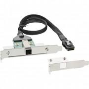 InLine Adattatore SAS HD su staffa PCI con foro Centronics50p con cavo, SFF-8644 (esterno) a SFF-8087 (interno), 0,5m