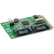InLine Mini-PCIe Karte, 2x SATA 6Gbs