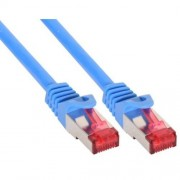 InLine Cavo Patch per rete dati Lan Cat.6, 2x RJ45, doppia schermatura SFTP (PiMf), HalogenFree, colore blu, 1.5m