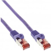 InLine Cavo Patch LAN, S/FTP (PiMf), Cat.6, 250MHz, guaina PVC, CU (100% rame), porpora, 7,5m