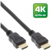 InLine Cavo Premium HDMI High Speed with Ethernet, FullHD 1080p., UHD 2.160p, Type-A maschio/ Type-A maschio, pin dorati, nero,