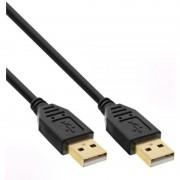 InLine Cavo USB 2.0, Type A maschio a Type A maschio, 2m, pin dorati, nero