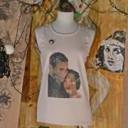 AGNESE - T-Shirt senza maniche dipinta a mano - Hug