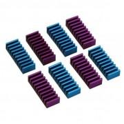 InLine Dissipatore passivo RAM heat sink per memorie 22x8x5mm, autoadesivo, pad termico incluso, colore blu e porpora, conf da 8