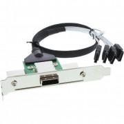 InLine Adattatore SAS su staffa PCI/Slot Centr. 50pin da 26-pin Mini SAS (SFF-8088) esterno a 4x SATA interne su cavo da 0,5m