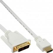 InLine Cavo HDMI maschio a DVI 18+1 maschio, 0,5m, contatti dorati, bianco