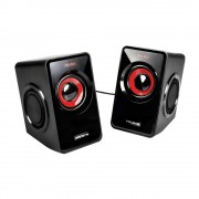 MARS Gaming Speakers MS1 Black Red