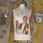 AGNESE - T-Shirt senza maniche dipinta a mano - Charme