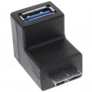 InLine Adattatore USB 3.0 Type-A femmina a Micro USB 3.0 Type-B maschio a 90 gradi