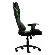 *Aerocool AC120BG Sedia Gaming Professionale Colorazione Black Green