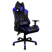 *Aerocool AC220BB Sedia Gaming Professionale Colorazione Black Blue